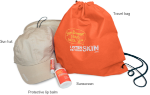 free suncare kit