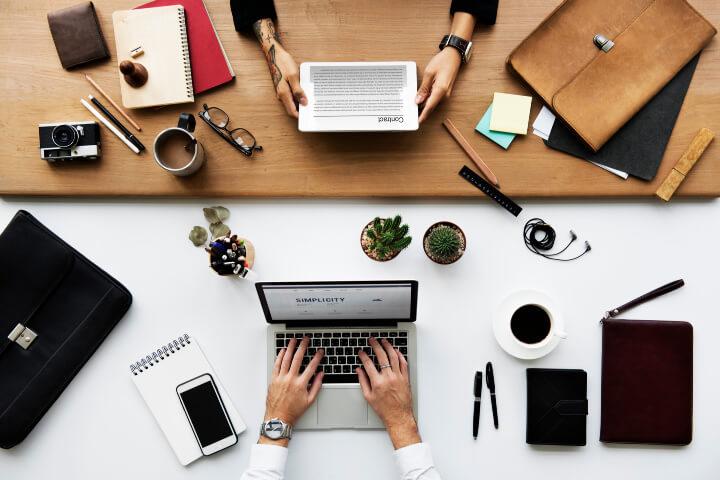 business website laptop