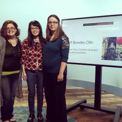 With Amanda of Amanda Creek Creative and Sarah of Sarah Shotts Storytelling