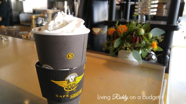 Cafe Moto with logo