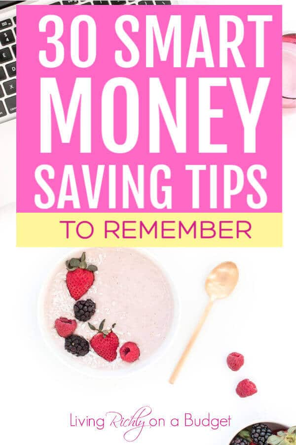 30 Smart Money Saving Tips