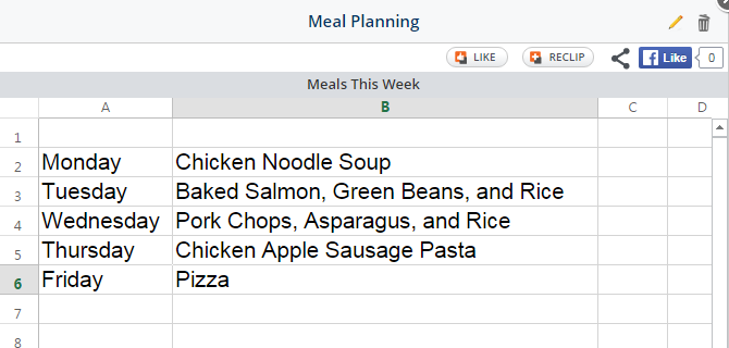 Meal Plan Clipix