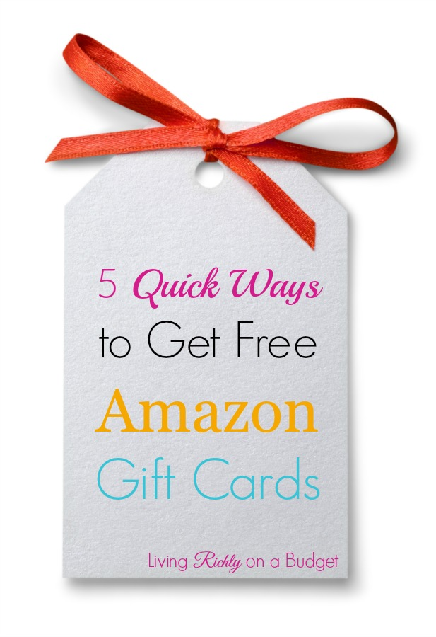 5 Quick Ways to Get Free Amazon Gift Cards
