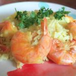 5 Minute Shrimp Scampi Paella in the Instant Pot
