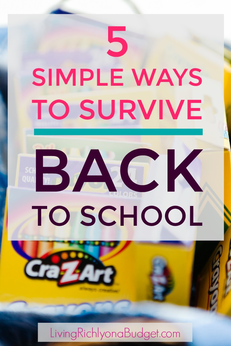 ways to survive back to school