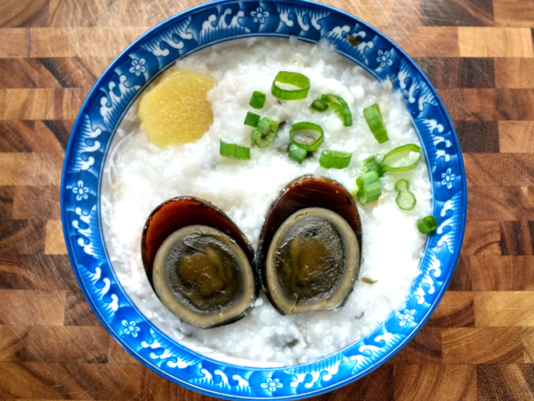 instant pot century egg jook recipe