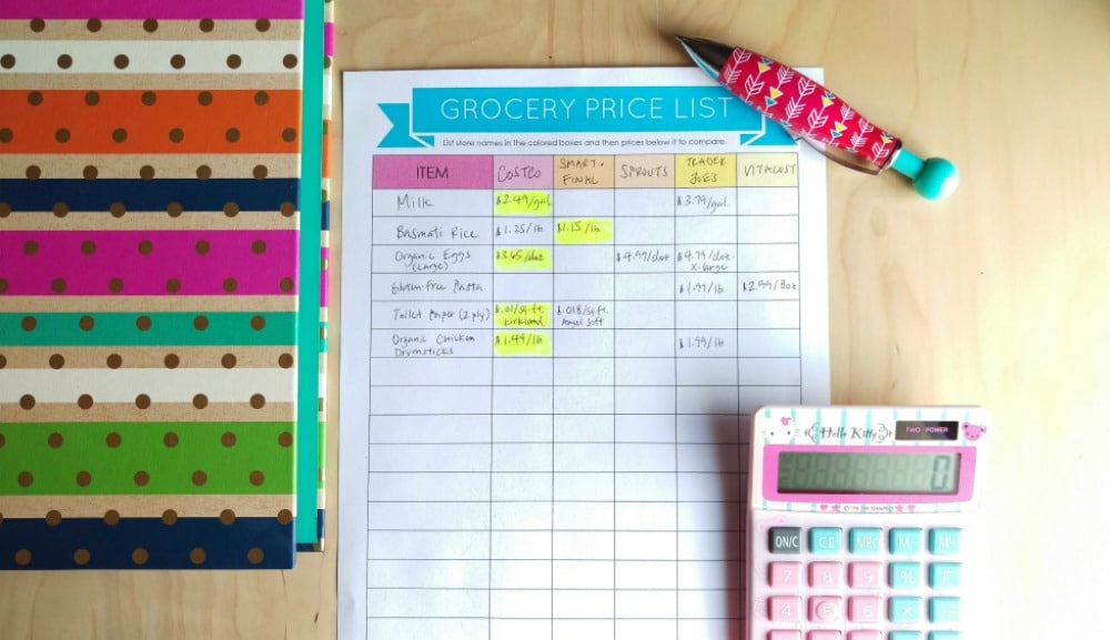 grocery price list full size