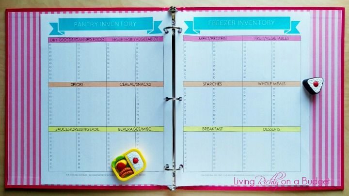 organize meal planning