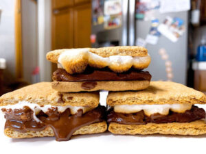 Smores in the oven pan