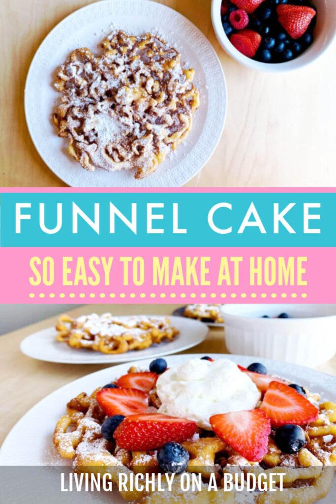 Funnel Cake Recipe Pin