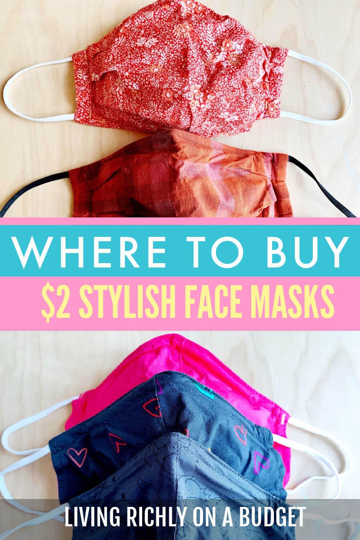 Where to Buy Stylish Cloth Face Masks