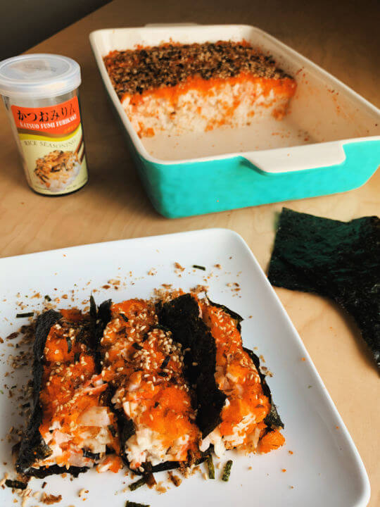 baked california roll