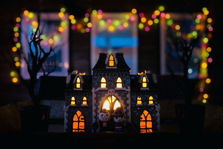 Halloween drive through haunted house