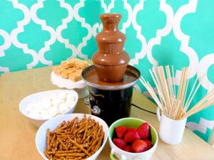 chocolate fountain dipping ideas